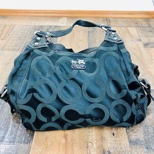 Coach Shoulder Bag with Three Main Pockets